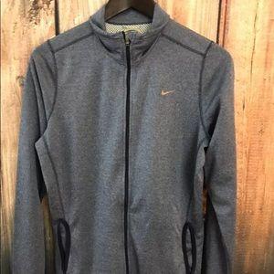 Nike Womens Zip Up Jacket  Dri Fit Thumbholes  L